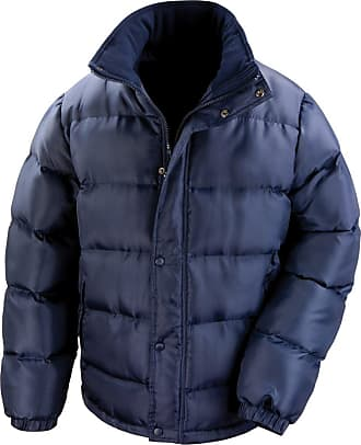 Result Mens Core Nova Lux Padded Lined Winter Jacket (Water Repellent & Windproof) (L) (Navy Blue)