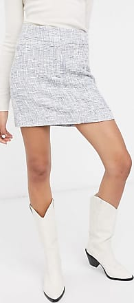 & Other Stories tweed a-line mini skirt in blue