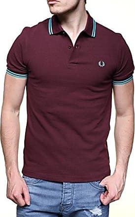 eabe8f56aca7e Fred Perry M3600-d07-l Polo, Rouge (Mahogany/Peppermint D07)