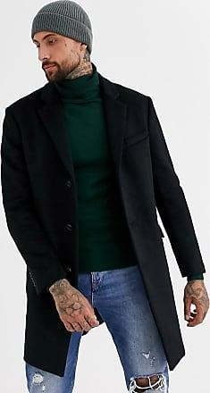 Topman overcoat in black