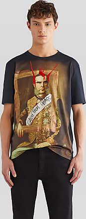 Etro Punk Print Cotton T-shirt, Man, Black, Size XL