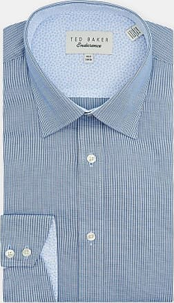 Ted Baker Textured Stripe Cotton Shirt in Blue BAIJIE, Mens Clothing