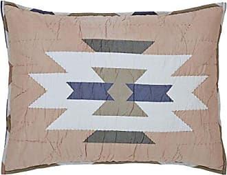 VHC Brands Boho & Eclectic Rustic & Lodge Bedding - El Dorado Pink Sham, Standard, Grey