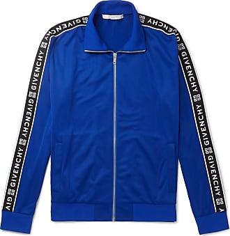 Givenchy Logo-jacquard Fleece-back Tech-jersey Track Jacket - Blue