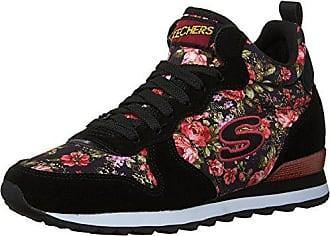 7546e0b4364b Skechers Womens Retros-OG 85-Hollywood Rose Print Mid High Jogger Shoes