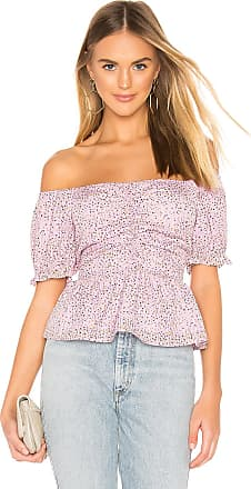 J.O.A. Sweetheart Neck Top With Balloon Sleeve in Lavender