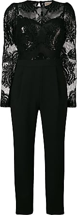 Michael Michael Kors sequin embroidered jumpsuit - Preto
