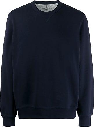 Brunello Cucinelli crew neck sweatshirt - Azul