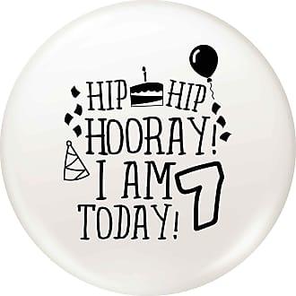 Flox Creative 77mm Pin Badge I am Seven Today