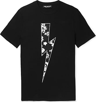 Neil Barrett Slim-fit Printed Stretch-cotton Jersey T-shirt - Black