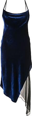 Kiki De Montparnasse bias cut asymmetric dress - Blue