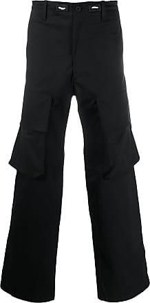 Yohji Yamamoto Calça cargo com caimento solto - Preto