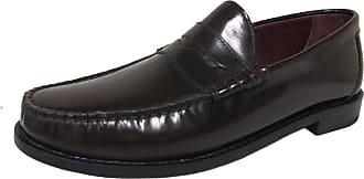 Ikon Original Mens Albion Penny Loafer Mod Shoe Burgundy 10 UK/44 EU