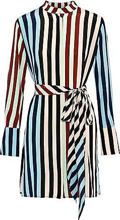 5ba24fe633fb8 Diane Von Fürstenberg Diane Von Furstenberg Woman Belted Printed Silk Mini  Dress Multicolor Size L