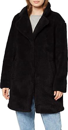 Urban Classics Womens Ladies Oversized Sherpa Coat, Black (Black 00007), Medium