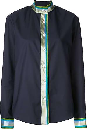 Rosie Assoulin Camisa com detalhe de listra - Azul