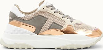 Tod's Sneakers in High Tech Fabric and Leather, ORANGE,GREY,BEIGE, 38.5 - Scarpe