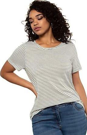 ffbdf994 STUDIO UNTOLD Ulla Popken Round Neck Stripe Short Sleeve Stretch Cotton Tee  - Plus size fashion