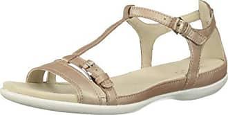 Ecco Womens Womens Flash T-Strap Flat Sandal, Champagne, 42 M EU (11-11.5 US)