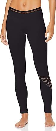 Emporio Armani Womens Stretch Cotton Leggings Pajama Bottom, Black, XL