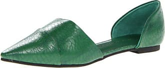 Chinese Laundry Womens Easy Does It DOrsay Flat, Forest Green Exotic, 7.5 M US