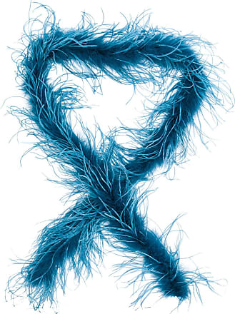 Forte_Forte feather scarf - Blue