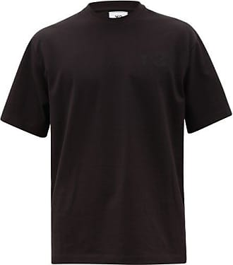 Yohji Yamamoto Logo-print Cotton T-shirt - Mens - Black