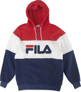 Fila Boris Overhead Sherpa Fleece Navy Weiß Rot Pullover - Small