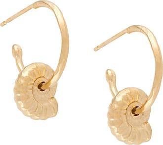 Natalie Perry Jewellery Par de brincos Ammonite com pingente - Dourado