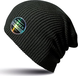 Result Winter Essentials Core Softex Double Knit Beanie, Available in 25 Colours (Black)