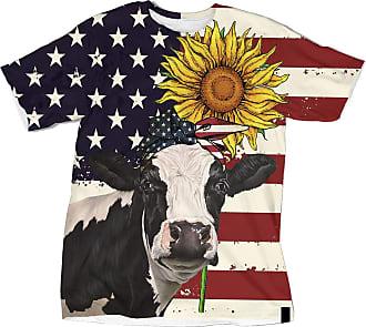 NA American Flag Heifer Sunflower 3D Shirt