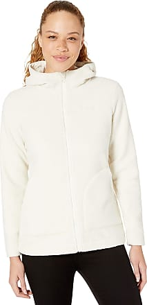 Columbia Womens Canyon Point Hooded Sherpa Full Zip Fleece Jacket, Chalk, Medium