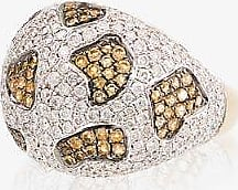 Yvonne Léon Womens Metallic 18k Yellow Gold Leopard Citrine And Diamond Ring