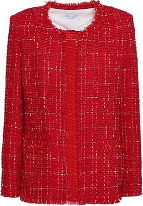 Iro Iro Woman Frayed Cotton-blend Bouclé-tweed Jacket Red Size 36