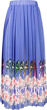 Ultra Chic pleated printed skirt - Purple