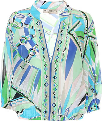 Emilio Pucci Printed cotton and silk top
