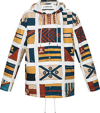 Lanvin Patterned Jacket Mens Multicolour