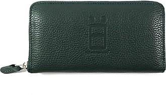 Comembreisd Green leather woman wallet designed and handmade in Italy