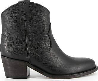 Via Roma 15 Fashion Woman 2490BLACK Black Leather Ankle Boots | Spring Summer 20