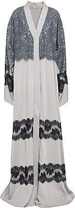 4806b717c76e6 Dolce & Gabbana Dolce & Gabbana Woman Layered Lace-paneled Silk-blend  Kimono Light
