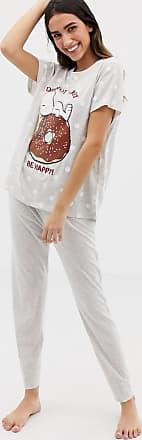d422ef27a82466 Women'secret Pijama gris Snoopy Donut Worry Be Happy de Womensecret