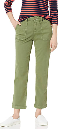 NYDJ Womens Straight Ankle Chino Pant Casual, Olivine, 2