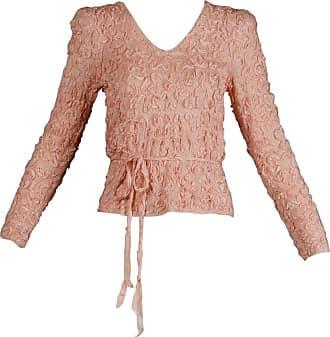 15fd6422fd9a32 Oscar De La Renta 1970s Oscar De La Renta Vintage Pale Blush Pink Knit  Soutache Sweater