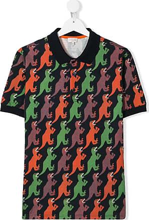 Paul Smith Camisa polo com estampa de dinossauro - Azul