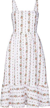 Reformation Vestido midi Manet com estampa floral de linho - Branco