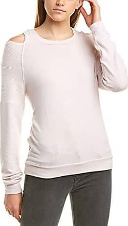 Michael Stars Womens Madison Brushed Stripe Colorblock Long Sleeve Scoop Neck