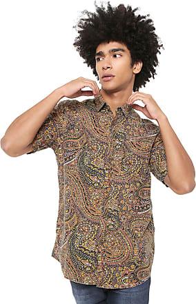 Billabong Camisa Billabong Sundays Estampada Amarela Laranja 7ef61b8af2f