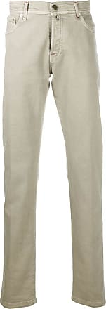 Kiton straight-leg denim jeans - NEUTRALS
