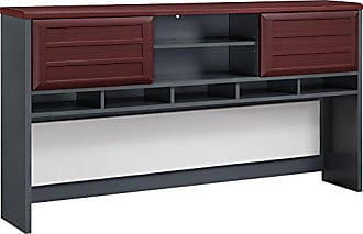 Dorel Home Products Ameriwood Home Pursuit Hutch, Cherry/Gray