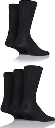 SockShop Mens 5 Pair SockShop Plain Bamboo Socks - Black 7-11